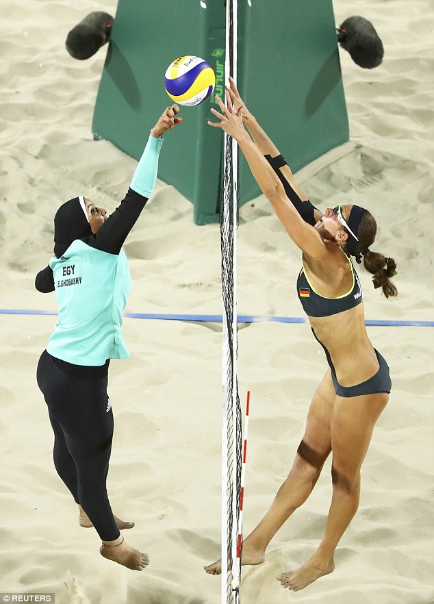 Volley Ball match between Egypt and Germany. Image Credits: Reuters/Dailymail