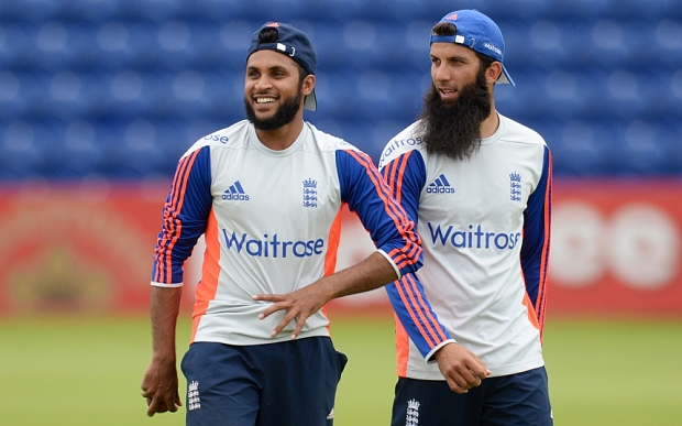 Cricket - England Nets - SWALEC Stadium, Cardiff, Wales - 5/7/15  England's Adil Rashid (L) and Moeen Ali during nets  Action Images via Reuters / Philip Brown  Livepic